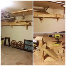 step by step how to hang overhead storage in garage awesome garage shelf designs step step how to hang overhead storage in