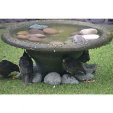 bird bath station effect water bowl large for garden patio