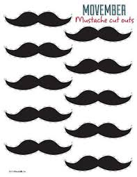 cut outs movember mustache cut outs at baudville