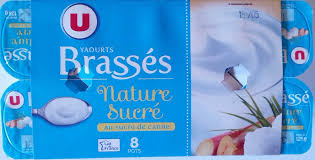 8 Pots by Yaourt Brassé Nature Sucré Au Sucre De Canne 8 Pots U 1 Kg