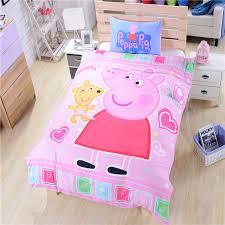 Uk Single Duvet Size Pink Peppa Pig Bedding For Girls Duvet Cover Single Double Queen
