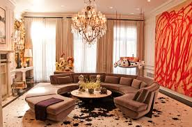 decor great room ideas with cool chandelier plus beige curtain