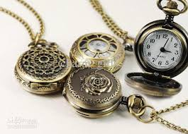quartz necklace watch images Wholesale mixed styles retro pocket watch pendant necklace table jpg