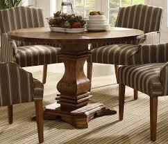 homelegance euro casual round pedestal dining set rustic oak