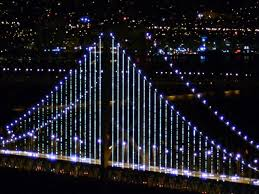 Bay Bridge Lights Bay Bridge Takes On New Look Video On Nbcnews Com