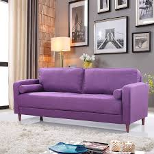 amazon com mid century modern linen fabric living room sofa