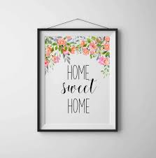 home sweet home art print home sweet home sign printable