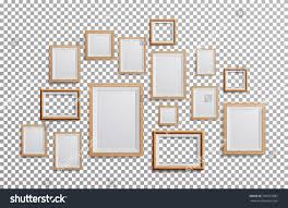 realistic photo frame vector set square stock vector 596537882