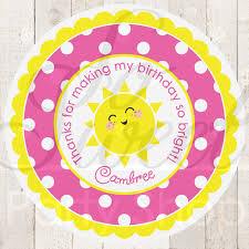 You Are My Sunshine Decorations Lemonade And Sunshine Favor Stickers 1st Birthday Party