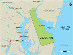Cape Henlopen State Park Map by Geographical Map Of Delaware And Delaware Geographical Maps