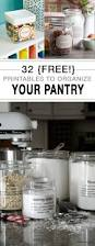 32 free printables to organize your pantry