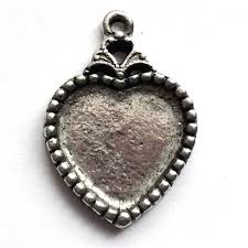 necklace making charms images Vintage pewter castings b 39 sue by 1928 heart pendants necklace jpg