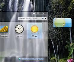 gadget bureau meteo retrouver les gadgets windows 7