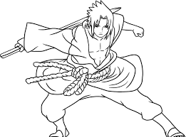 coloring pages anime sasuke of naruto shippuden cartoon coloring