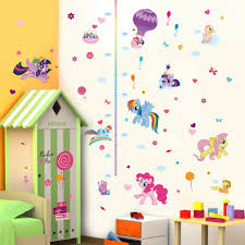 popular girls wall stickers buy cheap girls wall stickers lots cute colorful cartoon flying horse child baby height measure growth chart wall sticker for kids room