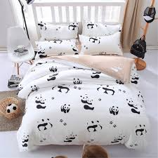 Black And White Bed Sheets Online Buy Wholesale Black White Bed Set From China Black White