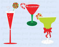 martini christmas christmas clipart drink clipart digital christmas invitation clip