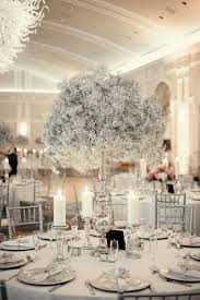 White Centerpieces Glamorous Silver And White Wedding Decor Pictures 70 For Your