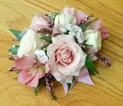 wrist corsage pink white wrist corsage c4 norwood ma florist