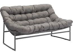 Zuo Outdoor Furniture by Zuo Outdoor Ingonish Beach Aluminum Polyethylene Sofa In Gray 703530