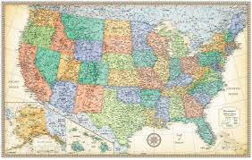wall maps classic edition u s wall maps rand mcnally store