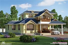 Modern House Roof Design Beautiful Sloping Roof Villa Plan House Design Plans