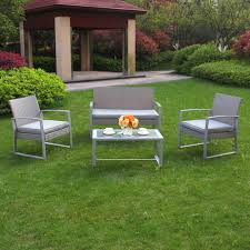 Discount Wicker Patio Furniture Sets - 4 pc outdoor rattan wicker patio furniture set sectional garden