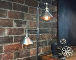 Edison Bulb Floor Lamp Industrial Floor Lamp Copper Shade Edison Bulb Lamp