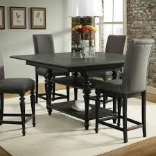 corinne wood counter height dining table in ebonized acacia