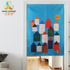 Curtain Cartoon by Kitchen Linen Cotton Japanese Font B Door B Font Font B Curtain