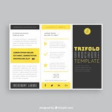 free tri fold business brochure templates black and yellow trifold business brochure template vector free