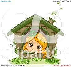 royalty free vector clip art illustration of a cute st patricks