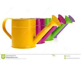 colorful watering cans royalty free stock photos image 20289018