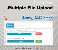 Resume Parser Php Drag And Drop Multiple File Upload Using Jquery Ajax And Php