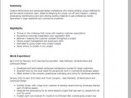 Sample Resume For Landscaping Laborer by Resume For Landscaping Landscape Resume Sample One Service Resume