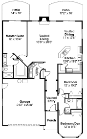 Home Floor Plans With Furniture Bungalow House Plans Plan With Garage Craftsman Style Floor Open