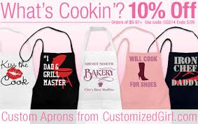 personalized aprons archives customizedgirl
