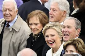inaugural luncheon head table inauguration 2017 trump honored clinton came to inaugural lunch