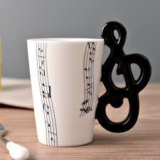 new design ceramic music score design cups mugs with musical note