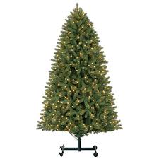 9 christmas tree 9 ft pre lit grand spruce grow stow set artificial