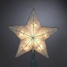 8 5 pre lit capiz style scrolling star christmas tree topper