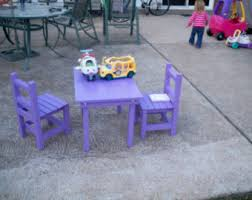 Kids Wooden Table And Chairs Set Black Table And Bench Kids Play Table Wood Bench Kids
