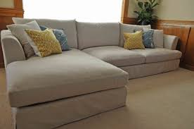 Slipcovered Sectional Sofa by Light Grey Slipcover Sectional Sofa With Chaise For Living Room