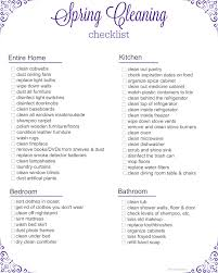 printable spring cleaning checklist mommadjane