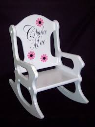 childs rocking chair personalized by weaverwood on 59 95