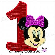 minnie mouse 1st birthday minnie mouse one birthday applique paisleycow