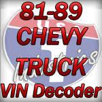 1981 1989 gmc u0026 chevy truck vin decoder chevy truck parts