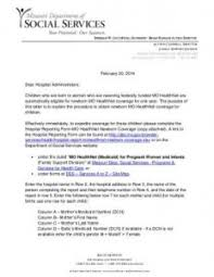 letter of support for medicaid sample u0026 templates