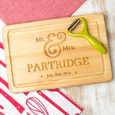cutting board engraved personalised wedding engraved chopping board by dust and things
