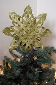 woven paper tree topper happiness is homemade